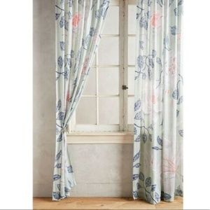 NEW Anthropologie Catamarca Floral Curtain Panel